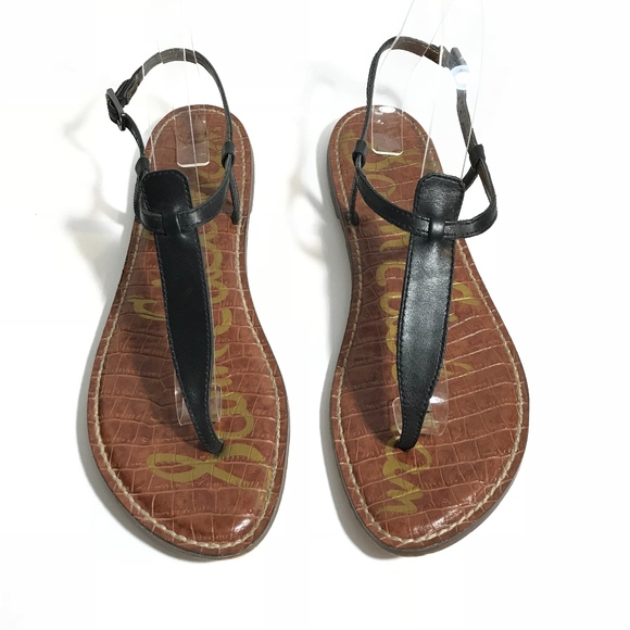 c03e9277e Sam Edelman Gigi Black T Strap Thong Flat Sandals.  M 5b1321e38ad2f9d55e0b52f1